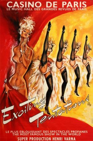 Casino de Paris Exciting Tentations 1960s - original vintage poster by OKley (Pierre Gilardeau) listed on AntikBar.co.uk