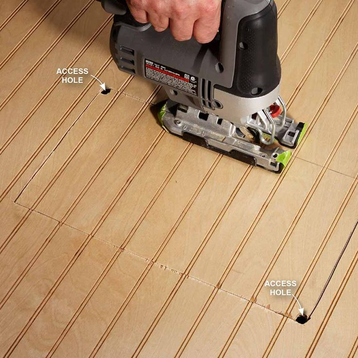 Drill Starter Holes Drill Starter Holes If You Need To Cut Out A Hole In The