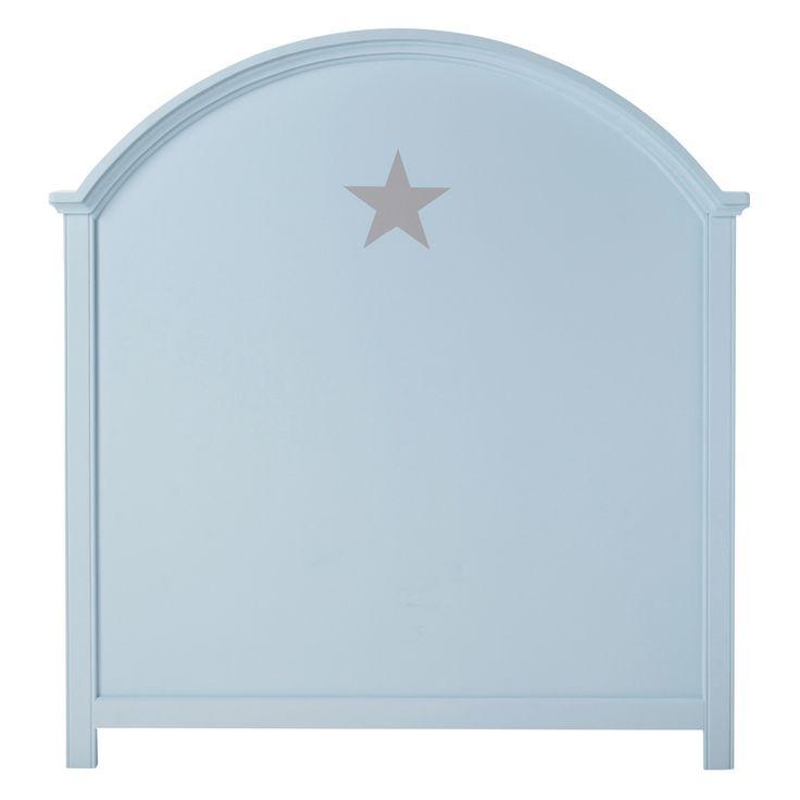 Testata da letto blu per bambini 90 cm PASTEL