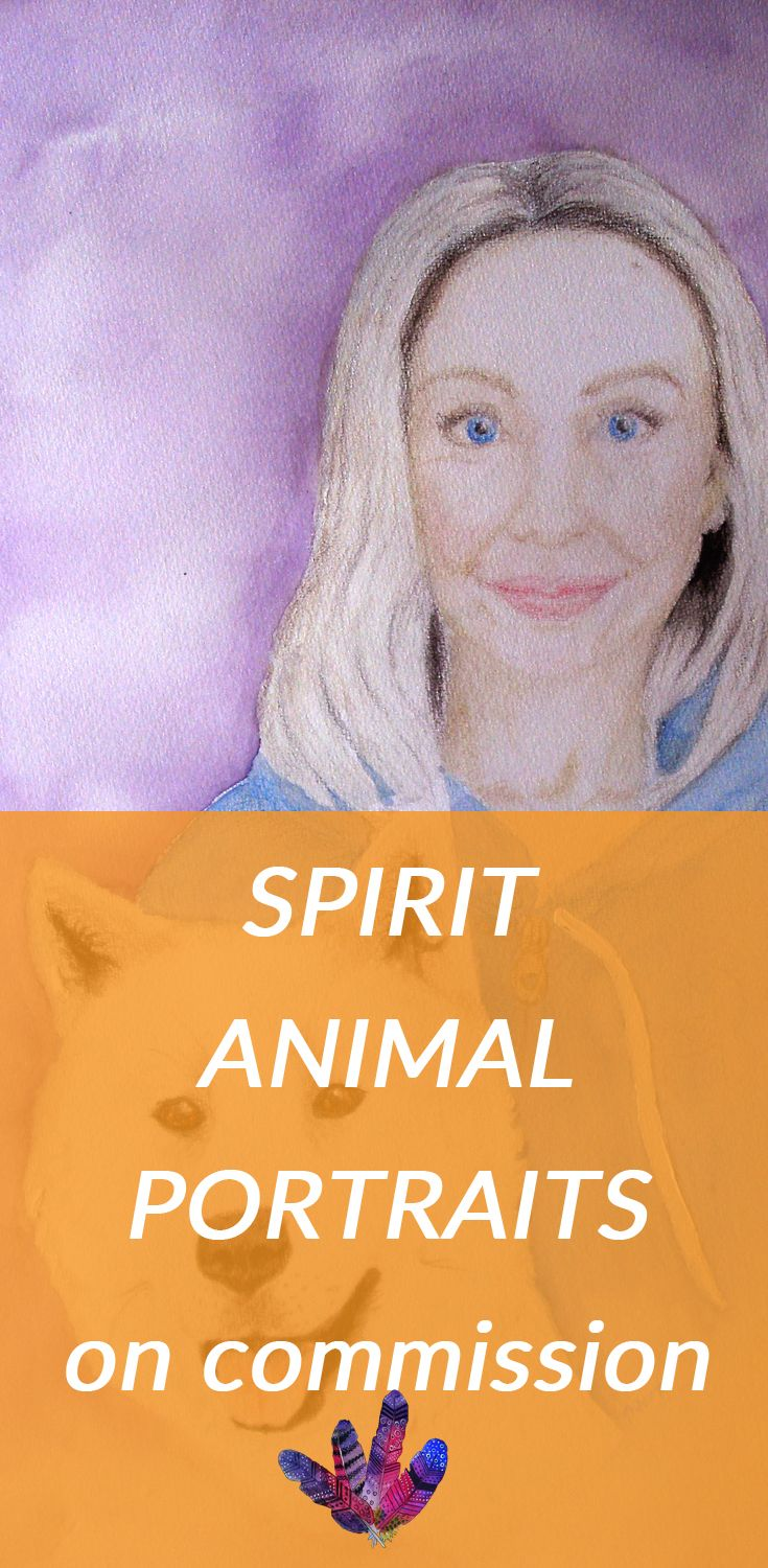 Get your own spirit animal portrait made for you