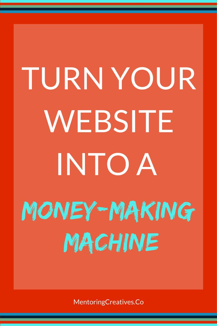 Do you use your website to its full potential? Is it optimised for complete value? Turn your website into a money making machine with Mentoring Creatives. Sarah Barnes.