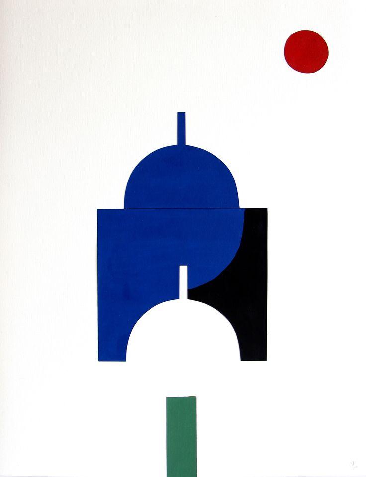 Renée Rossouw Scape II Oil on Paper, Collage 65 x 50 cm R4 800