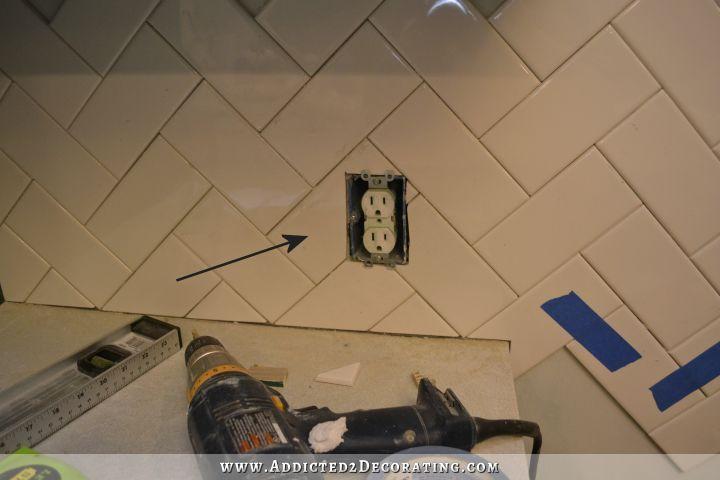 Image result for herringbone pattern sockets tiles electrical