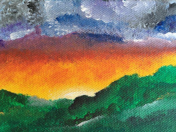 """""""Val silencieux"""" – Acrylique sur toile, 10x15 cm, 2017"""