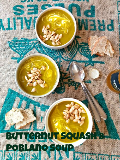 Butternut squash-poblano-soup | Naive Cook Cooks