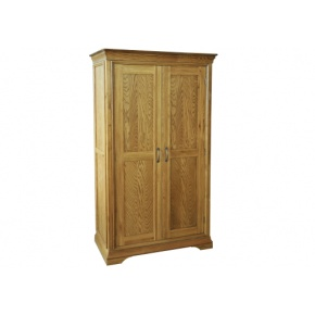 Solid Oak - FRW1 Lyon Oak Ladies All Hanging Wardrobe  www.easyfurn.co.uk