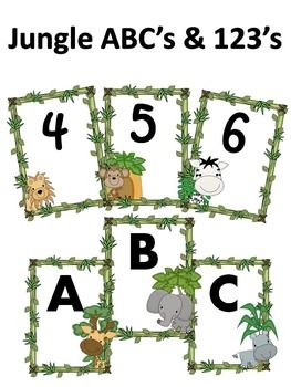 These cute wall print outs will keep your students engaged. The ABC's are in Aharoni font and the 123's are in Kristen font. Just print, cut out and post around your classroom!