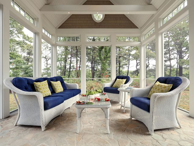 119 best images about sunroom on pinterest fireplaces for Conservatory dining room design ideas