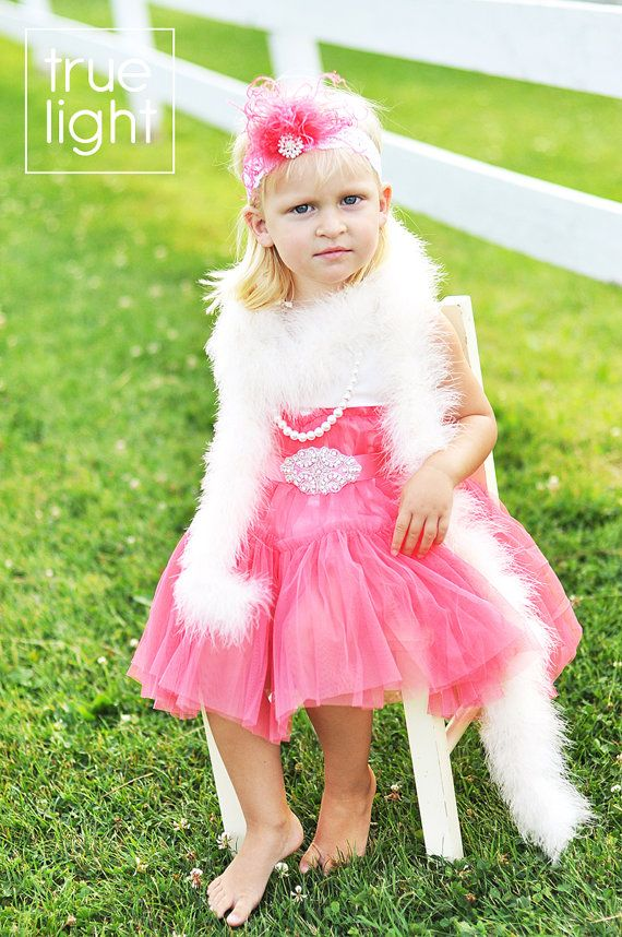 Fancy Nancy or Flapper Halloween Costume  Tutu by wrenandribbon