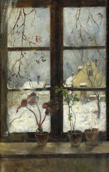 Henry Alexander (American, 1860-1894), Snow Scene through a Winter Window, 1870.Fine Arts Museums of San Francisco.
