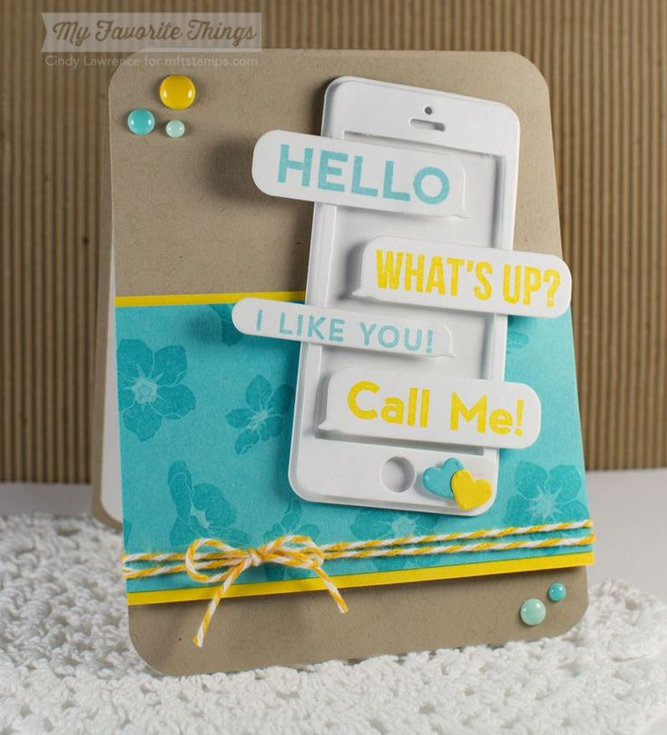 Friend Request, Forget Me Not, Smart Phone Die-namics - Cindy Lawrence #mftstamps