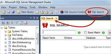 SQL Search | Easily integrates into SQL Server Management Studio