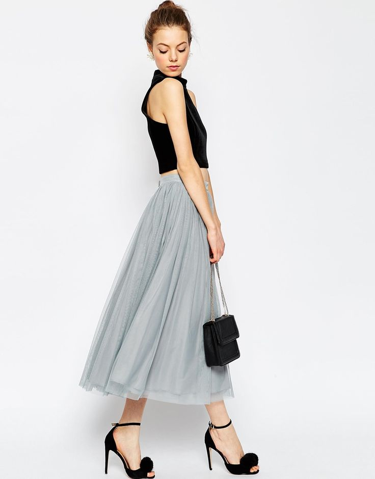 Image 1 of ASOS Tulle Prom Skirt with Multi Layers