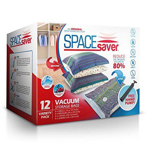 Spacesaver premium reusable vacuum storage bags