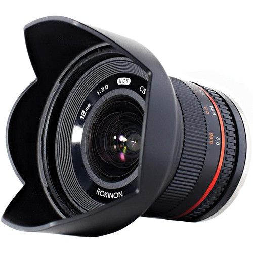 Rokinon 12mm f/2.0 NCS CS Lens for Sony E-Mount (Black)   The ideal lens f/2.0-f/22 (can find for around $300)