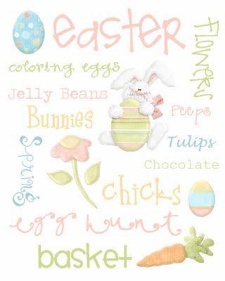 Easter subway art - free print