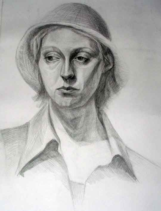 Drawing in pencil (Portrait)