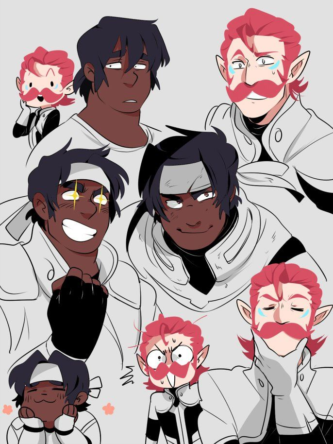 """""""I don't always draw Voltron fanart but when I do, it's of either Hunk or Coran"""""""