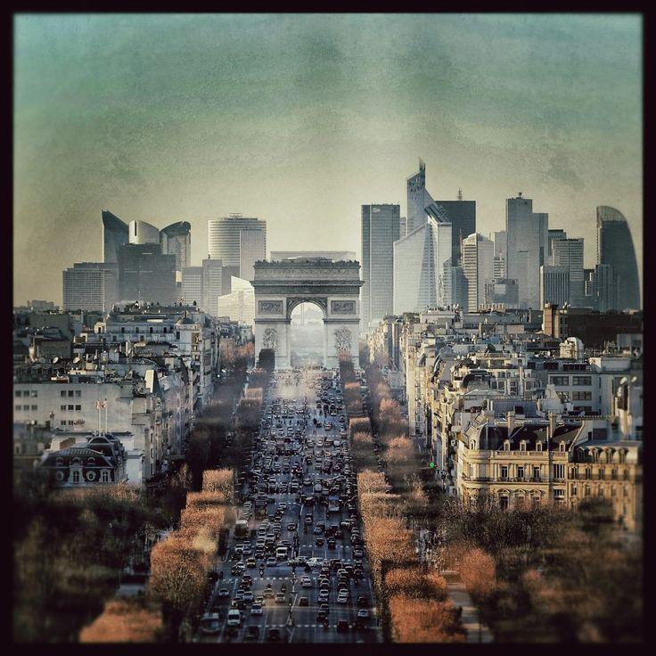 Paris La Défense vu du ciel par Philippe Milbault