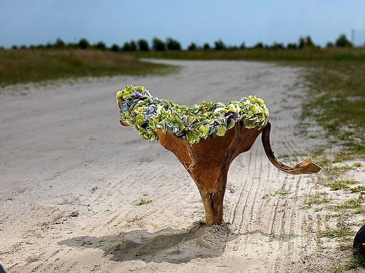 floral  land art ...Pim van de Akker
