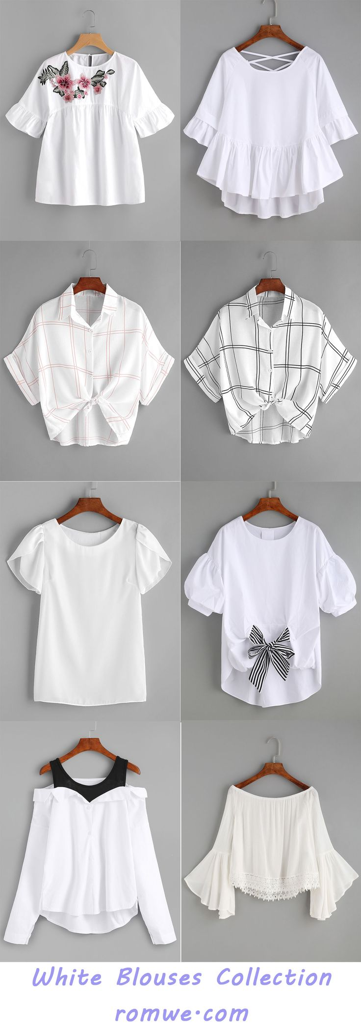 White Blouses Collection - romwe.com