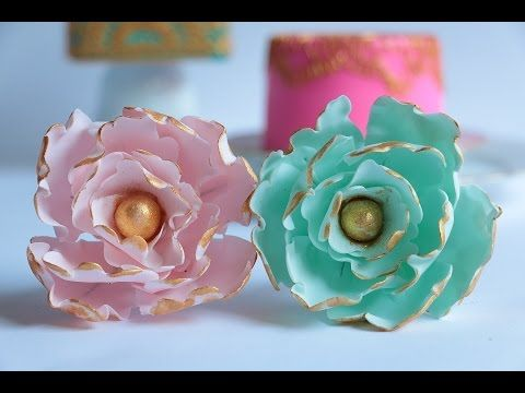 Gumpaste Peony Flower Tutorial - YouTube  In this tutorial I show you how to create these beautiful gumpaste peony flowers. enjoy! #gumpaste #peony #wedding