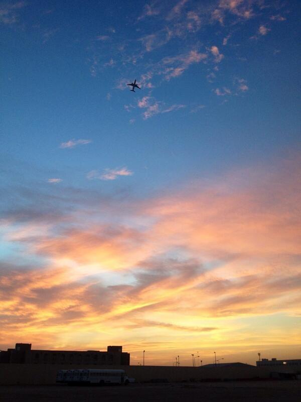 The Saudi Arabian sunset.