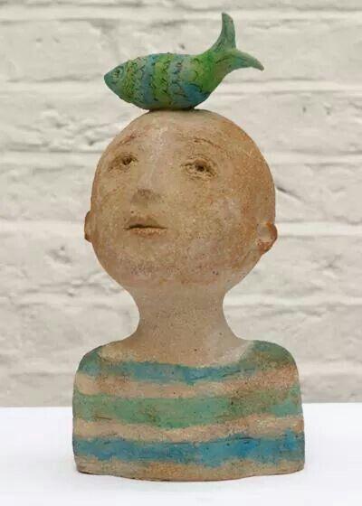 Francis baruch pinterest pottery ceramic for Ceramic fish sculpture