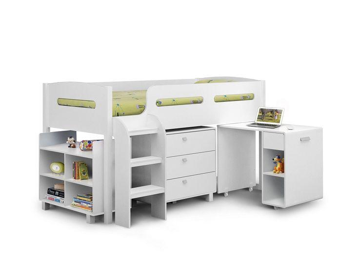 Julian Bowen Kimbo White Mid Sleeper Cabin Bed