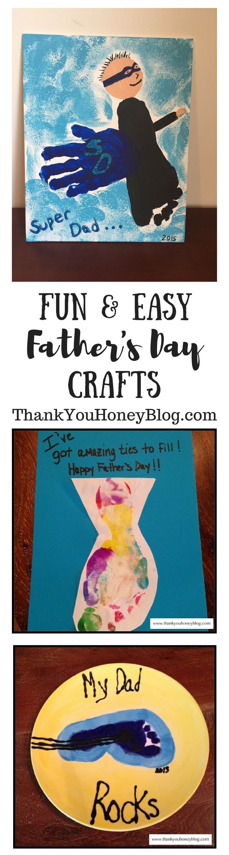 Fun & Easy Father's Day Crafts, Father's Day Gift Ideas, Crafts, DIY, Gifts from Kids, Homemade, Cards, Handmade, Made with Love, Father's Day, Dad, How To, Hacks, http://thankyouhoneyblog.com