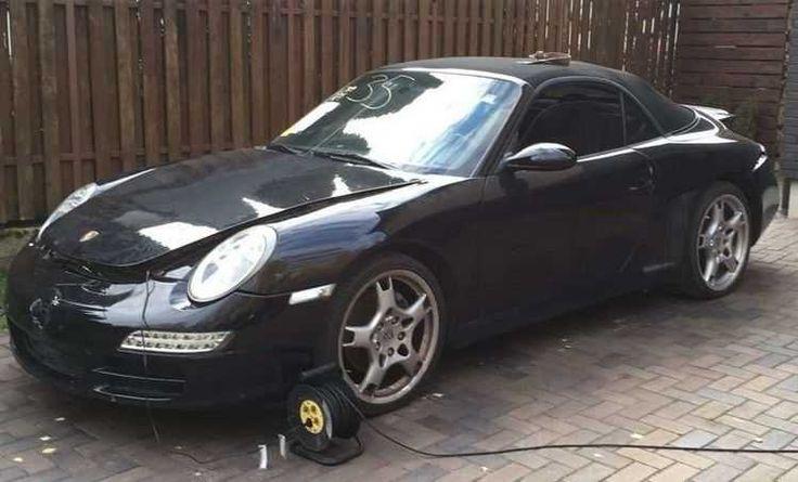 Porsche 997 Carrera Cabrio 04.2008, kleiner reparierter Heckschaden USA import