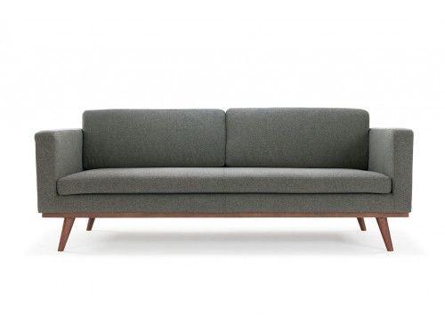 Johan, 3-seater sofa, Sunday Dark Grey, Ash Dark Grey Legs