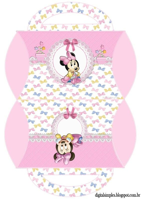 Caja almohada Minnie bebé