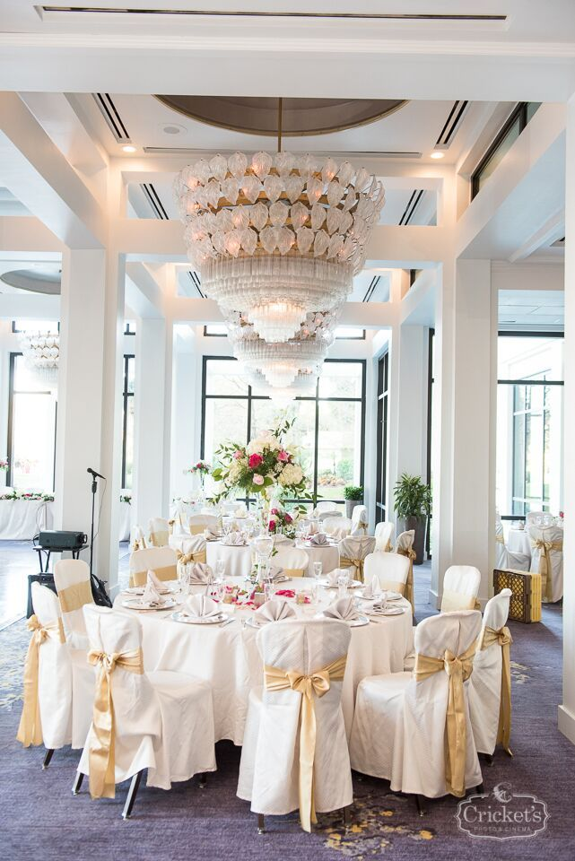 White And Gold Reception At The Hyatt Regency Grand Cypress La Coquina Cricket S Photography Just Marry Weddings