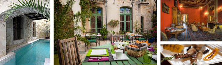Hotel Cote Cour - A7 near Montelimar, 1 hour Avignon. Dinners and wine. www.hotelcotecour.fr www.pillowsandpitstops.com