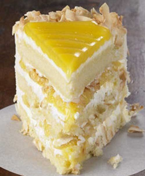 Tangy lemon filling between layers of tender white cake. Top it all off with a rich coconut-cream cheese frosting. Some people think that it is the best cake they've ever eaten.Author: Flavorite Ingredients1 cup butter, softened2