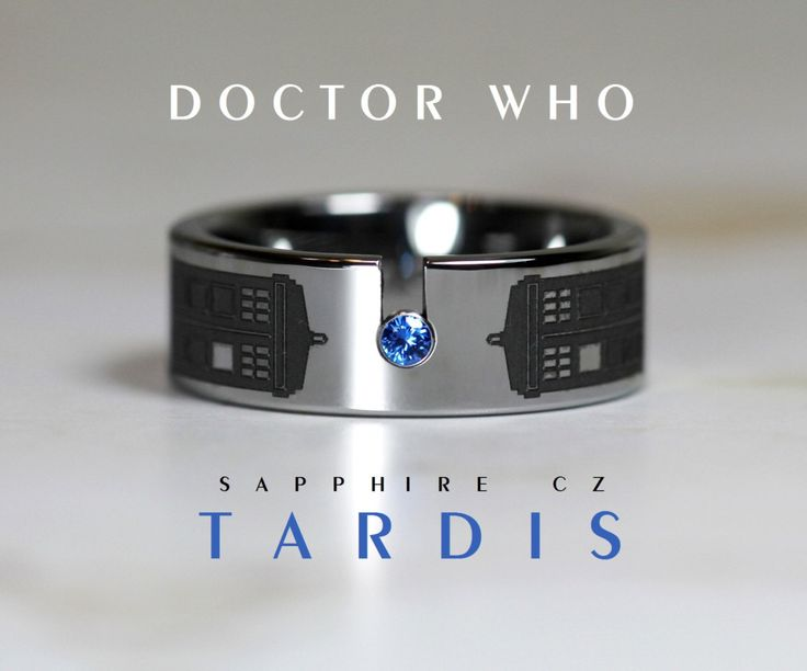 amazing dr who tardis ring by cloud 9 tungsten - Doctor Who Wedding Ring