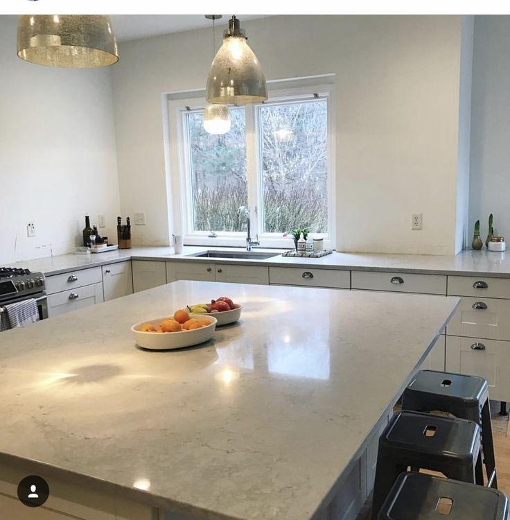 Caeserstone Countertops Ikea Nobel Gray Grey Kitchen Inspiration Space Saving Kitchen