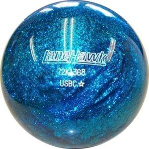 Blue glitter bowling ball....on pedestal...like Gayle's glass ball lawn art