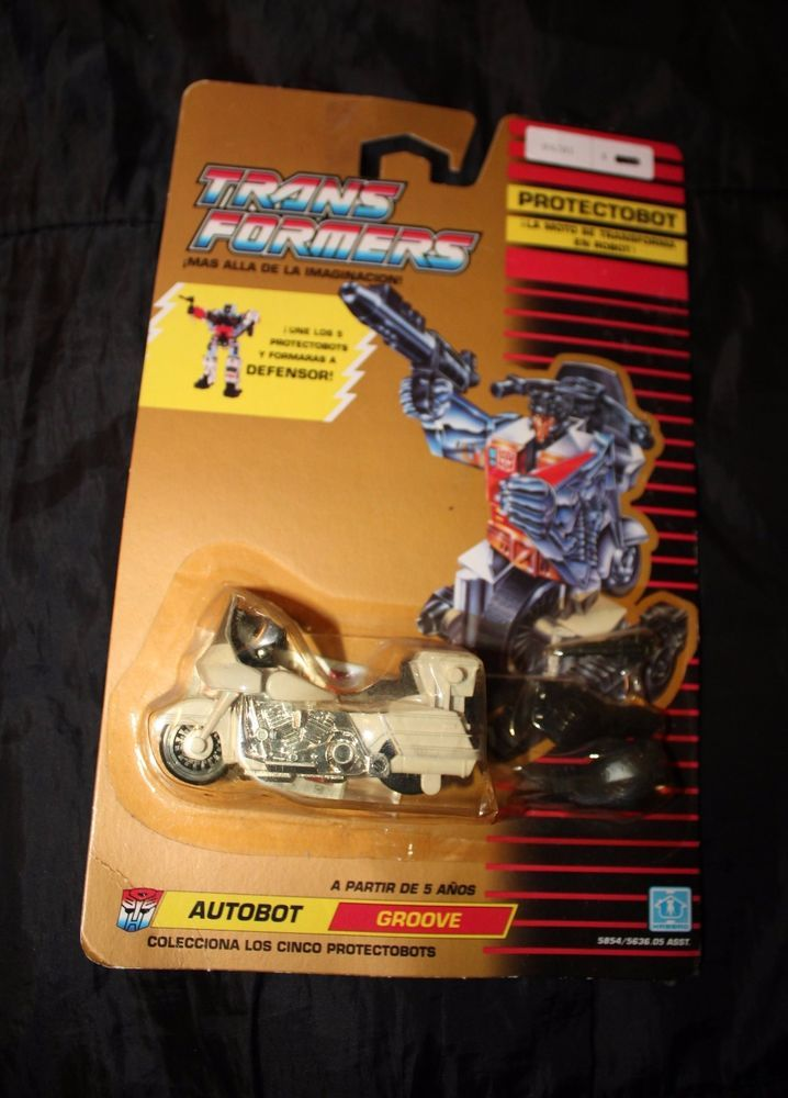 Transformers G1 Protectobot Groove 1990 MOC sealed never opened Rare Spanish MOC