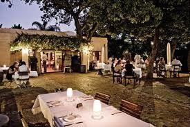 Outside dining at Terroir - Kleine Zalze