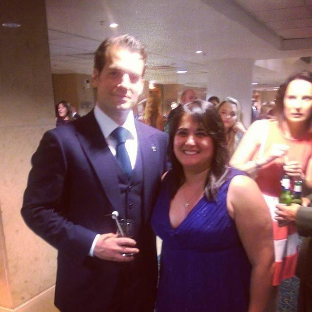 """""""Henry Cavill is such a wonderful guy, letting me take another photo w/him."""" via spacey1805  http://bit.ly/1S3nHjf"""