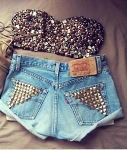 ...for a rainy day!: Teen Fashion, Headband, Summer Outfits, Rave Outfits, Studs Shorts, Jeans Shorts, Bags, Summer Clothing, High Waist Shorts
