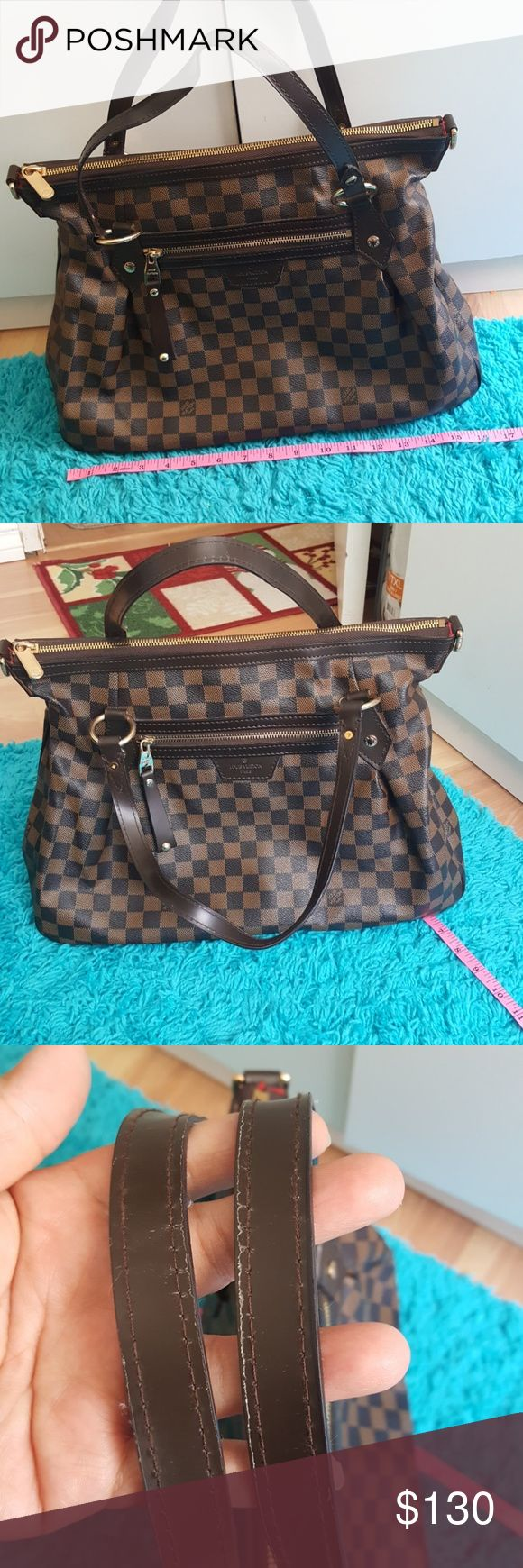 NOT REAL LOUIS VUITTON BAG😎😎 PLEASE READ:...NOT AUTHENTIC LOUIS VUITTON BAG..in great condition😉..please see pictures for very minimal used..corners and bottom of the bag are in great clean condition.. outside is clean, inside is clean just some pen marks...handles are still in great shape just see pics pls...make an offer . rep. louis vuitton Bags Satchels