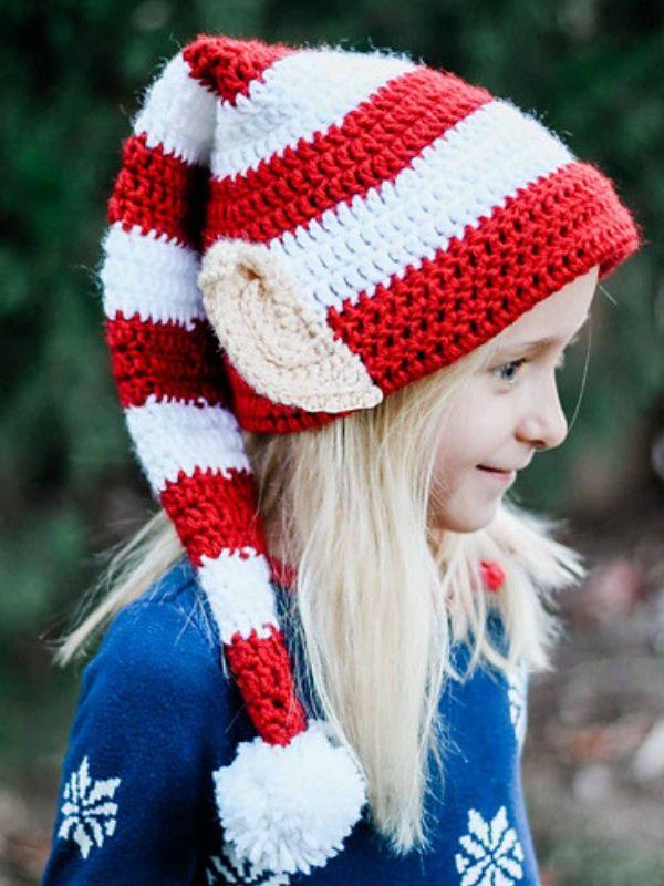 e45db20940850 Santa s Helper Elf Hat Free Crochet Pattern