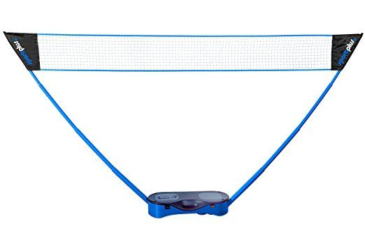 SportPlus Badminton Net incl. Rackets and Shuttlecocks, Height approx. 1,55m, Width: approx. 2,95m with Carry Case, SP-NET-011