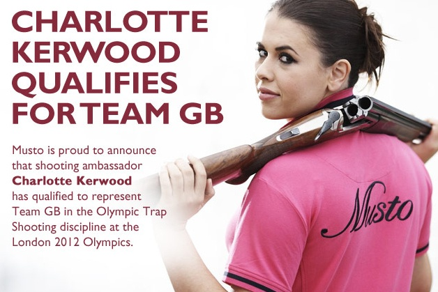 Charlotte Kerwood Musto shooting ambassador has qualified for Team GB London 2012 Olympics