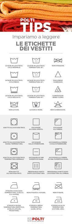 Saper leggere i simboli sulle etichette dei vestiti ci aiuta a evitare spiacevoli risultati, anche se non sempre sono chiari e di facile comprensione. Ecco la nostra guida per conoscerli tutti.