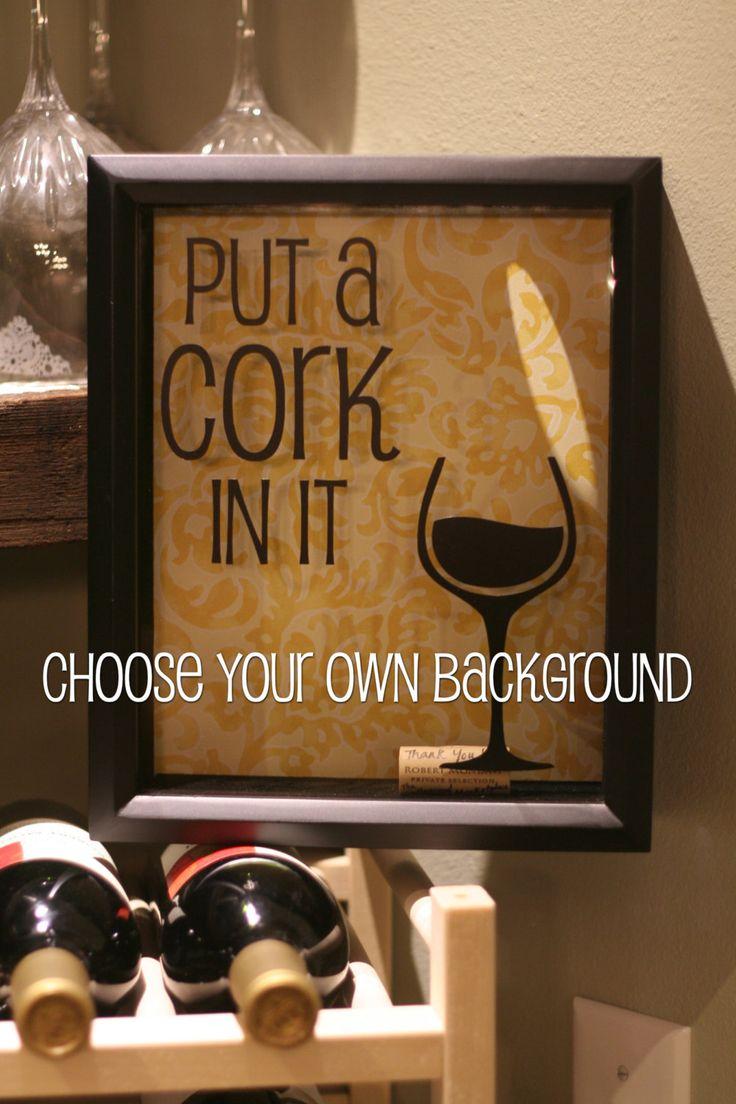Wine Cork Holder Cork Saver Shadow Box by CottonseedMktplace