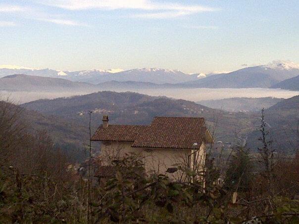 Banco di nebbia sulla Piana del Cavaliere da Colle Civitella.